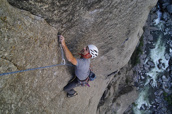 Photo: Chris following a stellar 5.12 pitch on 'Tague yer Time'