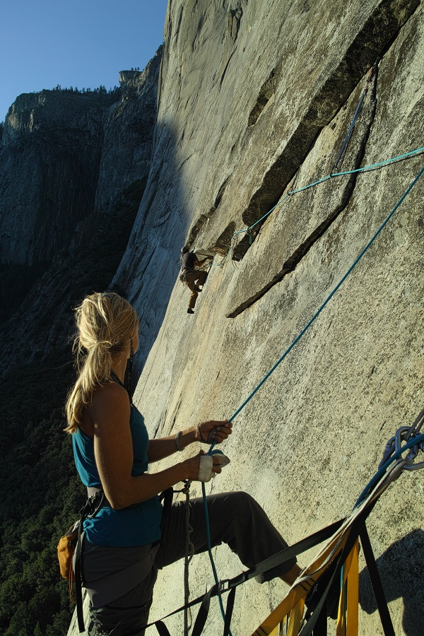 Photo: Sending the '8a Traverse' Muir Blast - El Cap